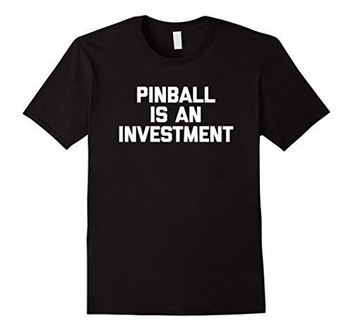 Pinball Is An Investment T-Shirt pinball machine stern retro Herren, Größe S Schwarz