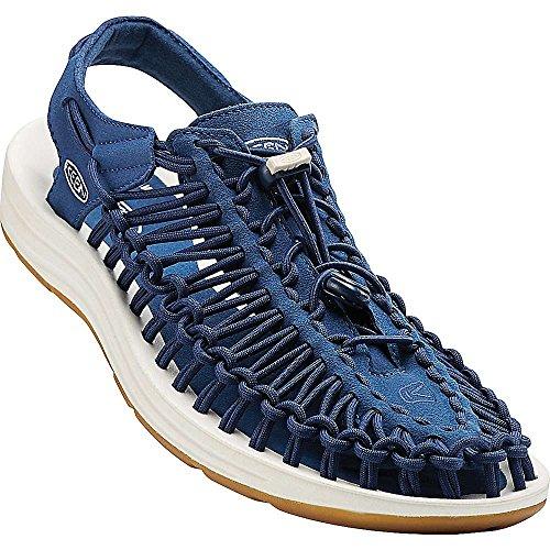 Keen Damen Uneek Sandale Immobilien Blau / Weiß 3.5